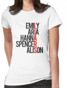 Pretty Little Liars Group Liars Womens Fitted T-Shirt