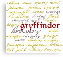 Gryffindor House Canvas Print