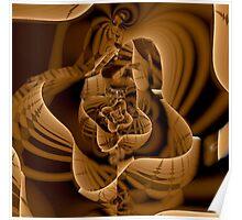 wooden sculpture  Poster