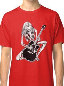 Skeleton Bones Dead Acoustic Guitar Player Classic T-Shirt