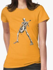 Skeleton Bones Dead Electric Guitar Player Womens T-Shirt