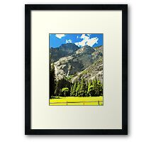 Mountains of Yosemite Valley Framed Print
