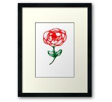 Scribbler Rose Framed Print
