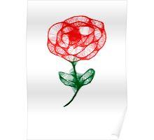 Scribbler Rose Poster