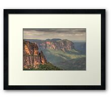 Leap of Faith - Govetts Leap, Blue Mountains, Sydney Australia - The HDR Experience Framed Print