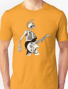 Skeleton Bones Dead Electric Guitar Player 2 T-Shirt