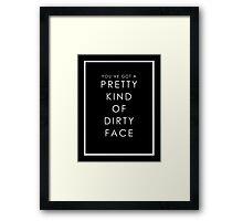 PRETTY FACE Framed Print