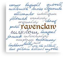 Ravenclaw House Canvas Print