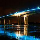 Brisbane River Flood -  Gateway Bridge  by Jaxybelle