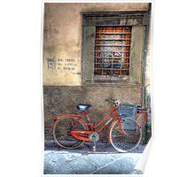 street scene in lucca Poster