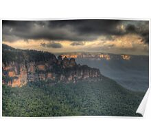 Icons - Jamison Valley, Katoomba Blue Mountains World Heritage Area - The HDR Experience Poster