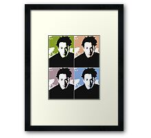 Keanu Reeves in the Matrix, 4 Colors Framed Print