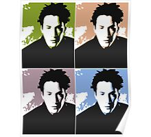 Keanu Reeves in the Matrix, 4 Colors Poster