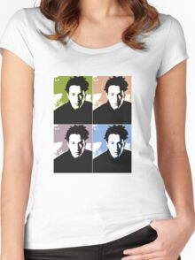 Keanu Reeves in the Matrix, 4 Colors Women's Fitted Scoop T-Shirt