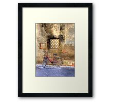 SPOT THE BICYCLE Framed Print