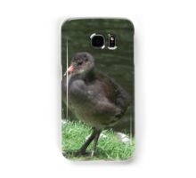 Moorhen chick posing Samsung Galaxy Case/Skin