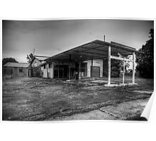 Abandoned gas station Poster