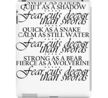 Game of Thrones Arya Fear Cuts Deeper Than Swords iPad Case/Skin