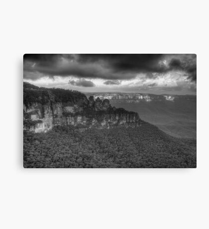 Icons (Monochrome) - Jamison Valley, Katoomba Blue Mountains World Heritage Area - The HDR Experience Canvas Print