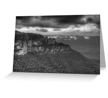 Icons (Monochrome) - Jamison Valley, Katoomba Blue Mountains World Heritage Area - The HDR Experience Greeting Card