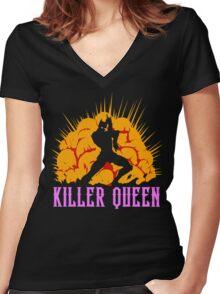 Killer Queen Women's Fitted V-Neck T-Shirt