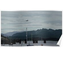 Hercules plane flying over Barmouth Poster