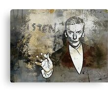 Doctor WHO - Peter Capaldi - LISTEN Canvas Print