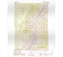 USGS Topo Map Oregon Squirrel Prairie 281606 1990 24000 Poster