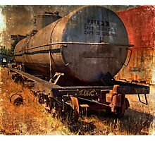 One Used Tank Car  Photographic Print
