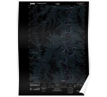 USGS Topo Map Oregon Indian Cove 20110903 TM Inverted Poster