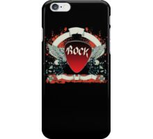 Rock and Roll Guitar Pick Wings iPhone Case/Skin