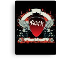 Rock and Roll Guitar Pick Wings Canvas Print