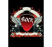 Rock and Roll Guitar Pick Wings Photographic Print