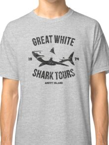 Great White Shark Tours (worn look) Classic T-Shirt