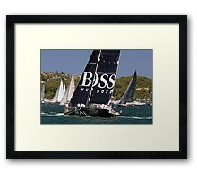 yacht hugo boss  Framed Print