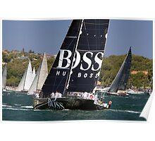 yacht hugo boss  Poster