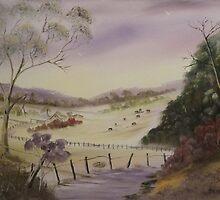Cattle Farm-Australia by Debra Lohrere