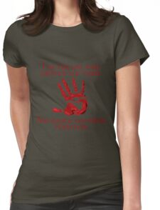 Supernatural Handprint  Womens Fitted T-Shirt