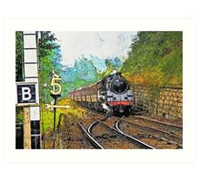 Steam Train at Goathland Art Print