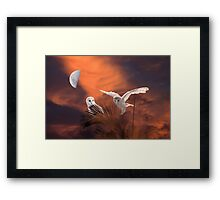 The Moon's Thrall Framed Print