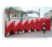 Lean on Me: Telephone Boxes: Kingston, UK. Canvas Print