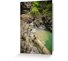 Ueble Schlucht Austria I Greeting Card