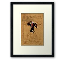 Vitruvian Spiderman Framed Print