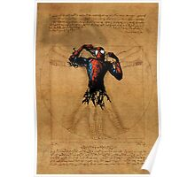 Vitruvian Spiderman Poster