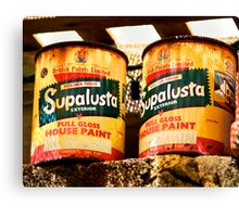 SupaLusta Cans Canvas Print
