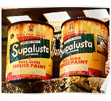 SupaLusta Cans Poster