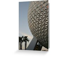 Walt Disney World Epcot Spaceship Earth Greeting Card