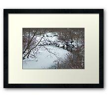 Winter Freeze Framed Print