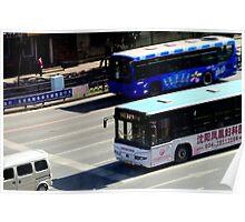 Buses, Shenyang, China Poster