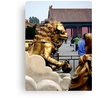 Lion Statue, Forbidden Palace, Beijing, China Canvas Print